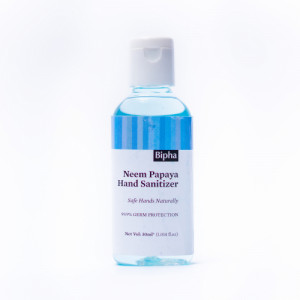 Bipha Ayurveda Neem Papaya Hand Sanitizer Liquid, 30ml