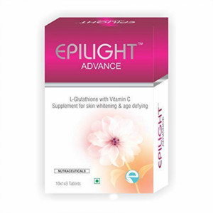 EPILIGHT Advance L-Glutathione With Vitamin C, 30 Tablets