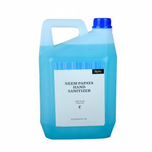Bipha Ayurveda Neem Papaya Hand Sanitizer Liquid, 5l