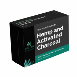 Health Horizons Hemp & Activated Charcoal Soap, 100gm
