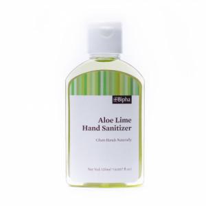 Bipha Ayurveda Aloe Lime Hand Sanitizer Liquid, 120ml