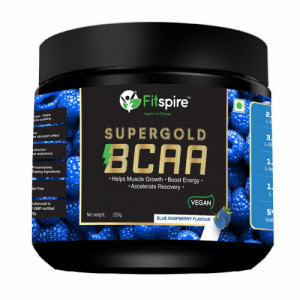 Fitspire Super Gold BCAA Protein Supplement Powder, 250gm