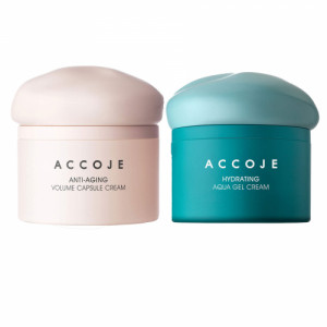 Accoje Anti - Aging Volume Capsule Cream + Hydrating Aqua Gel Cream, 100ml