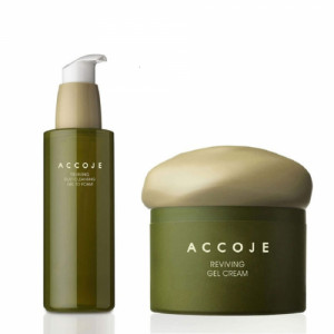 Accoje Reviving Dust Cleansing Gel to foam + Reviving Gel Cream, 230ml