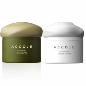Accoje Reviving Gel Cream + Whitening Capsule Cream, 100ml