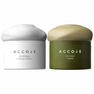 Accoje Whitening Capsule Cream + Reviving Cream, 100ml