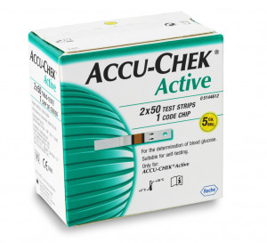 Accu Chek Active, 100 Strips