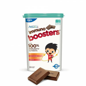 ActiveKids Immuno Boosters For 2 to 3 Years, 30 Choco Bites