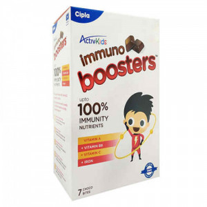 ActiveKids Immuno Boosters For 4 to 6 Years, 7 Choco Bites