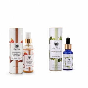 Seer Secrets Hydrating Retexturing  Facial Serum + Sebum Retarding Facial Cleanser Combo Pack