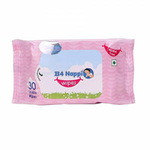 B4 Nappi Wipes, 30 Pieces