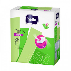 Bella Panty Mini Classic Pantyliners, 36 Pieces