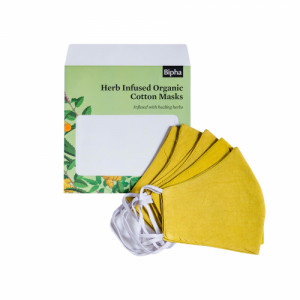 Bipha Ayurveda Herb Infused Organic Cotton Masks, (Pack Of 5)