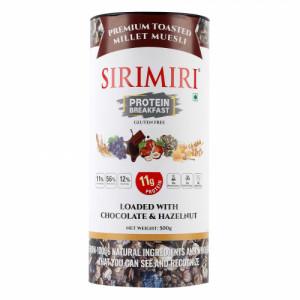 Sirimiri Premium Toasted Millet Muesli With Chocolate & Hazelnut, 500gm