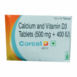 Corcal D 400mg, 10 Tablets