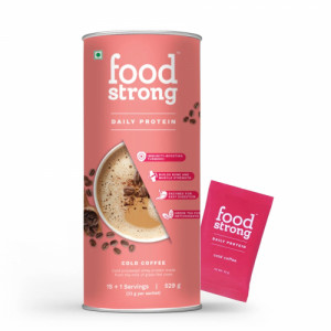 Foodstrong Daily Protein Cold Coffee, 529gm