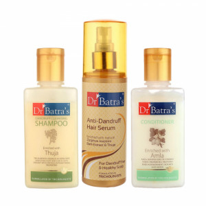 Dr Batra's Dandruff Cleansing Shampoo With Conditioner and Anti Dandruff Hair Serum Combo Pack