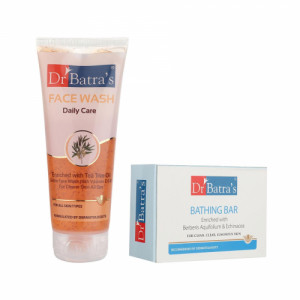 Dr Batra's Daily Care Face Wash With Bathing Bar Combo Pack