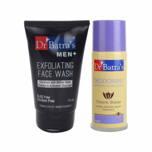 Dr Batra's Men Exfoliating Face Wash With Deo For Men Combo Pack
