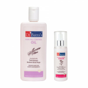 Dr Batra's Hair Fall Control Oil With Hair Fall Control Serum Combo Pack