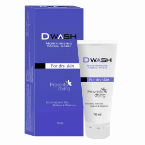 D Wash Moisturising Facial Wash, 70ml