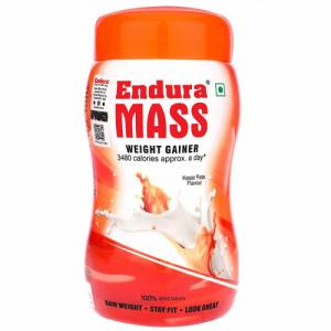 Endura Mass Weight Gainer Kesar Pista Flavour, 500gm