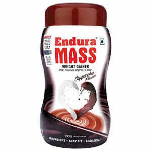 Endura Mass Weight Gainer Cappuccino Flavour, 500gm