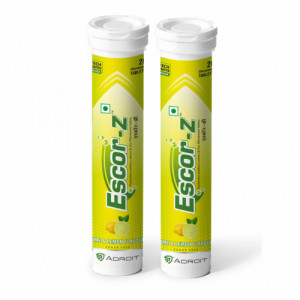 Escor-Z Effervescent Tablets Lime and Lemon Flavour Pack of 2