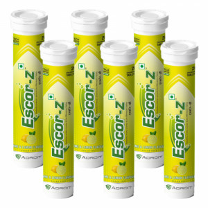 Escor-Z Effervescent Tablets Lime and Lemon Flavour Pack of 6