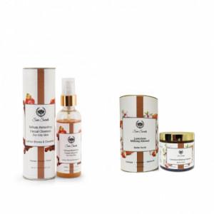 Seer Secrets Sebum Retarding Facial Cleanser + Luxurious Milking Almond Butter Scrub Combo Pack
