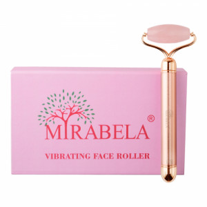 Mirabela Vibrating Face Roller Electric Massager Rose Quartz