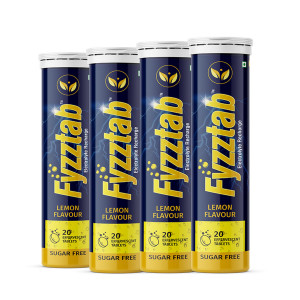 Fyzztab Electrolyte Recharge Lemon Flavour, 80 Tablets