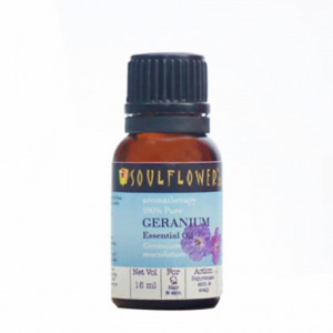 Soulflower Geranium Essential Oil, 15ml