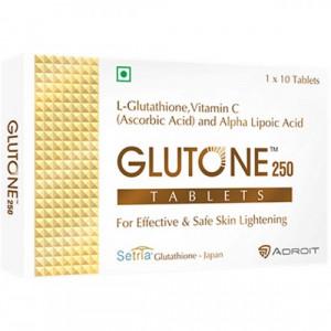 Glutone 250mg, 10 Tablets