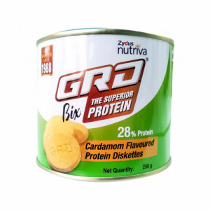 GRD Bix Delicious Protein Diskettes Cardamom Flavour, 250gm