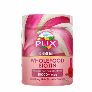 Plix Olena Plant-Based Wholefood 10000mcg+ Biotin Rose Flavour, 120gm