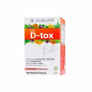 Avalife Liv D-tox, 60 Capsules