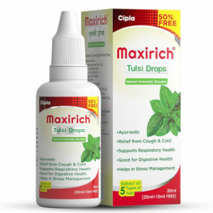 Maxirich Tulsi Drops, 30ml