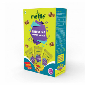 Mettle Banana Walnut Energy Bar, 35gm (Pack Of 12)