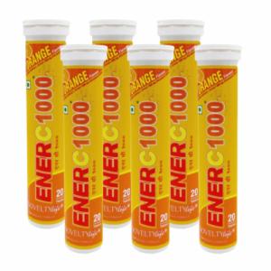 Ener C 1000, 20 Tablets (Pack Of 6)