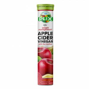 Plix Life Apple Cider Vinegar Effervescent Apple Flavour, 15 Tablets