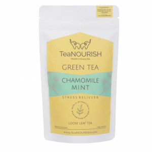 TeaNOURISH Chamomile Mint Darjeeling Green Tea, 100gm