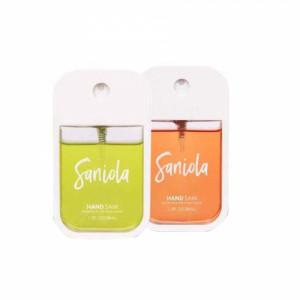 Saniola Fresh Duo Aloe Basil & Passion Fruit Hand Sani, Pack of 2