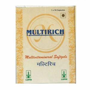 Multirich Multivitamin Softgels, 10 Capsules