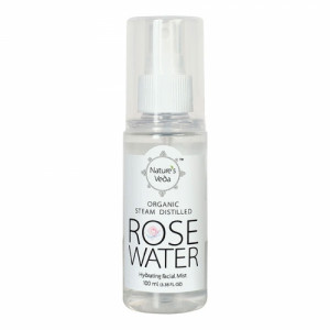 Nature's Veda Organic Steam Distilled Rose Water, 100ml