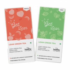 The Healthy Company Lean Green Tea - One Week Detox, 7 Sticks (Pack Of 2)