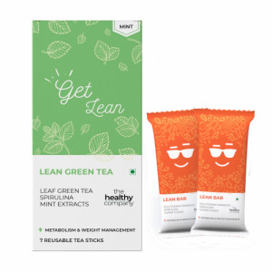 The Healthy Company Lean Green Tea With Lean Bar - One Week Weight Loss (Mint)