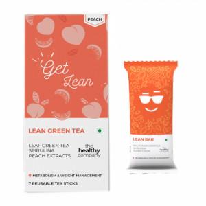 The Healthy Company Lean Green Tea With Lean Bar - One Week Weight Loss, (Peach)