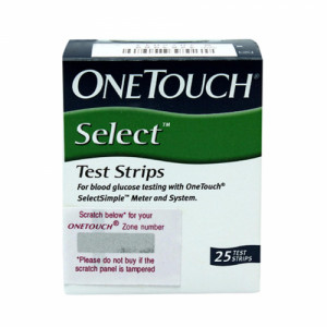 OneTouch Select Test Strips, 25's