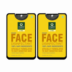 Organic Harvest Face Disinfectant Mist, 20ml  (Pack Of 2)
